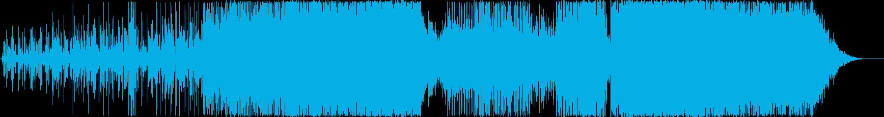 エレクトロハウス。クレッシェンドと...の再生済みの波形