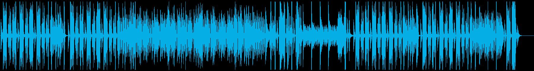 無機質で無骨な機械のようなピアノの再生済みの波形