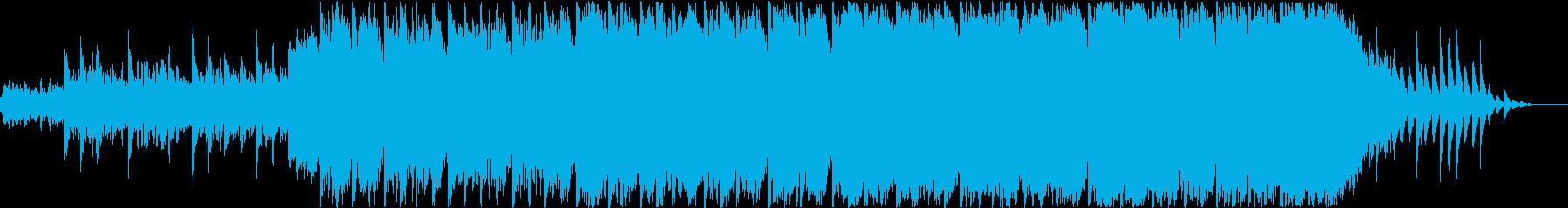 和風テイスト曲の再生済みの波形