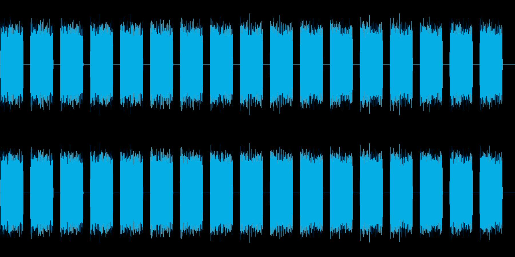 電子高速技術バズスペースアラームの再生済みの波形