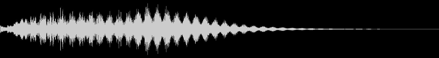 ビブラフォン:カスケード、2オクターブの未再生の波形