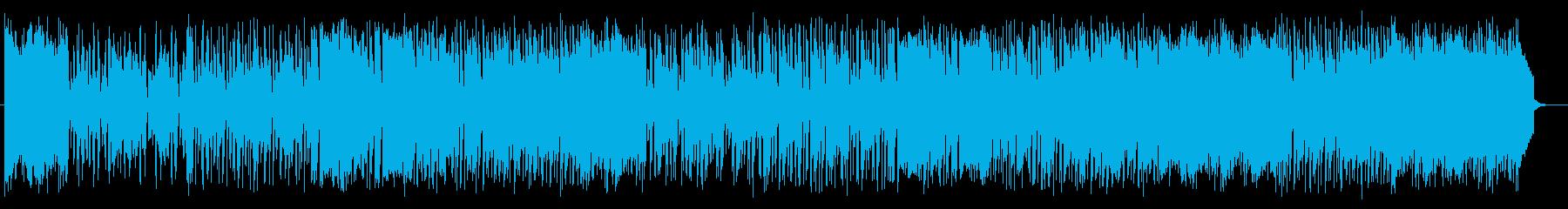 明るくゆったりとした曲の再生済みの波形