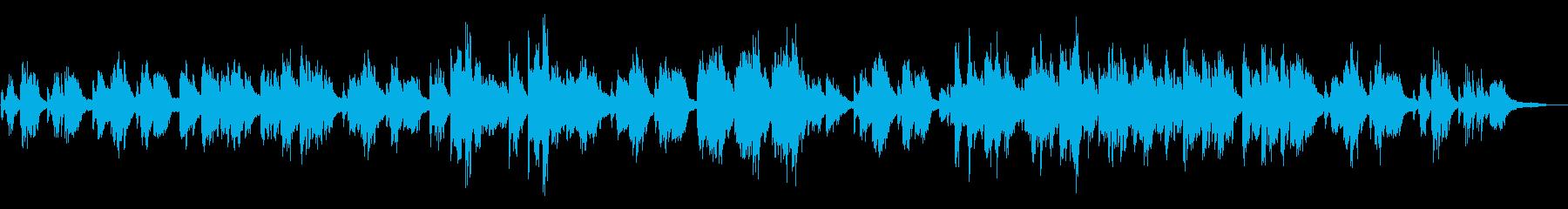 郷愁を誘うゆったりとした和風のピアノ曲の再生済みの波形