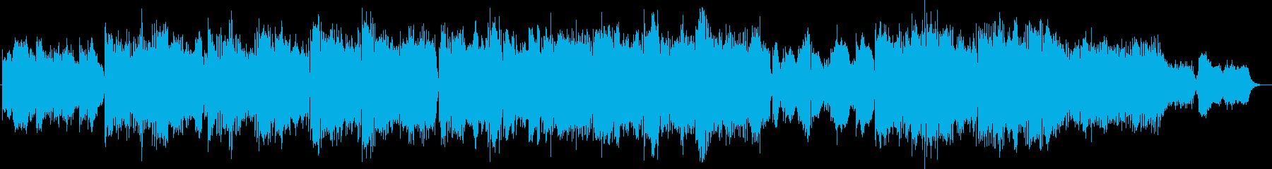 Futuristic techno pop music's reproduced waveform