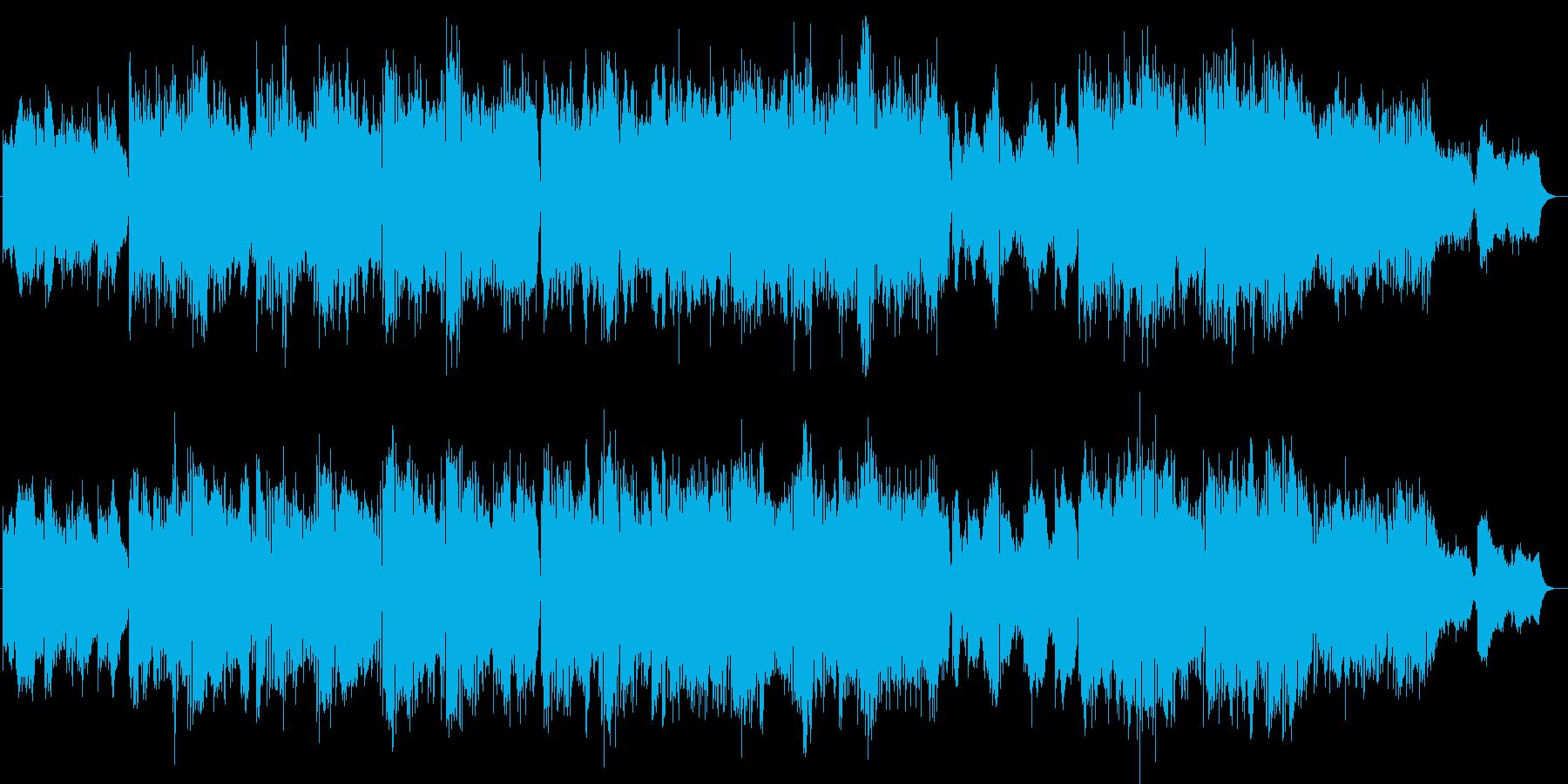 未来的なテクノポップミュージックの再生済みの波形