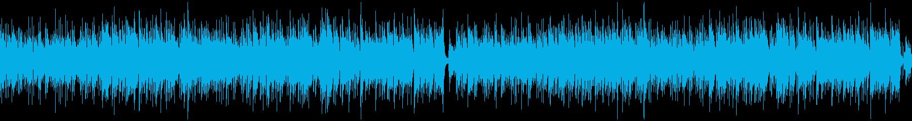ループ/ギター生演奏の爽やかボサノバの再生済みの波形