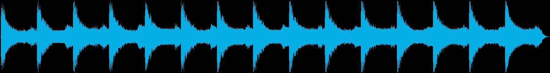鐘の音が怪しく不気味なホラーアンビエントの再生済みの波形