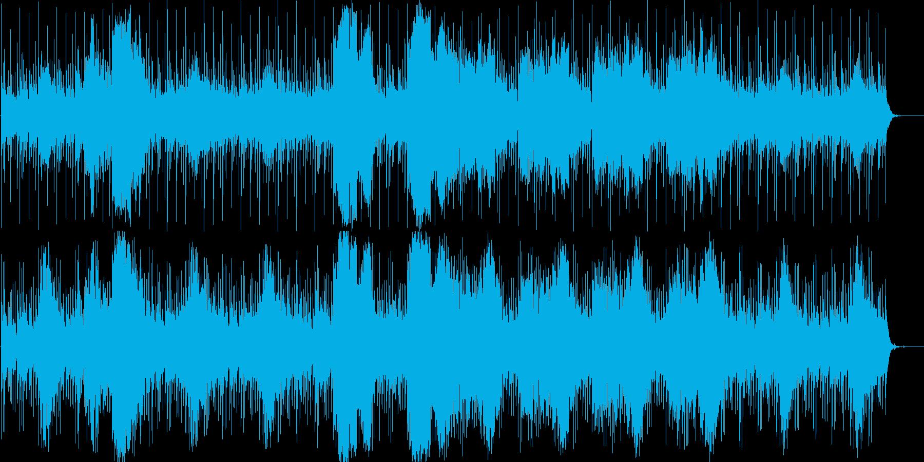 望郷感のある不思議な和風曲の再生済みの波形