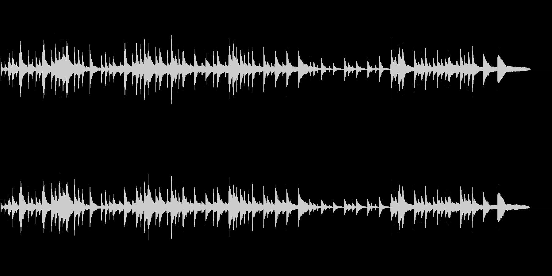 落ち着いたピアノトリオの未再生の波形