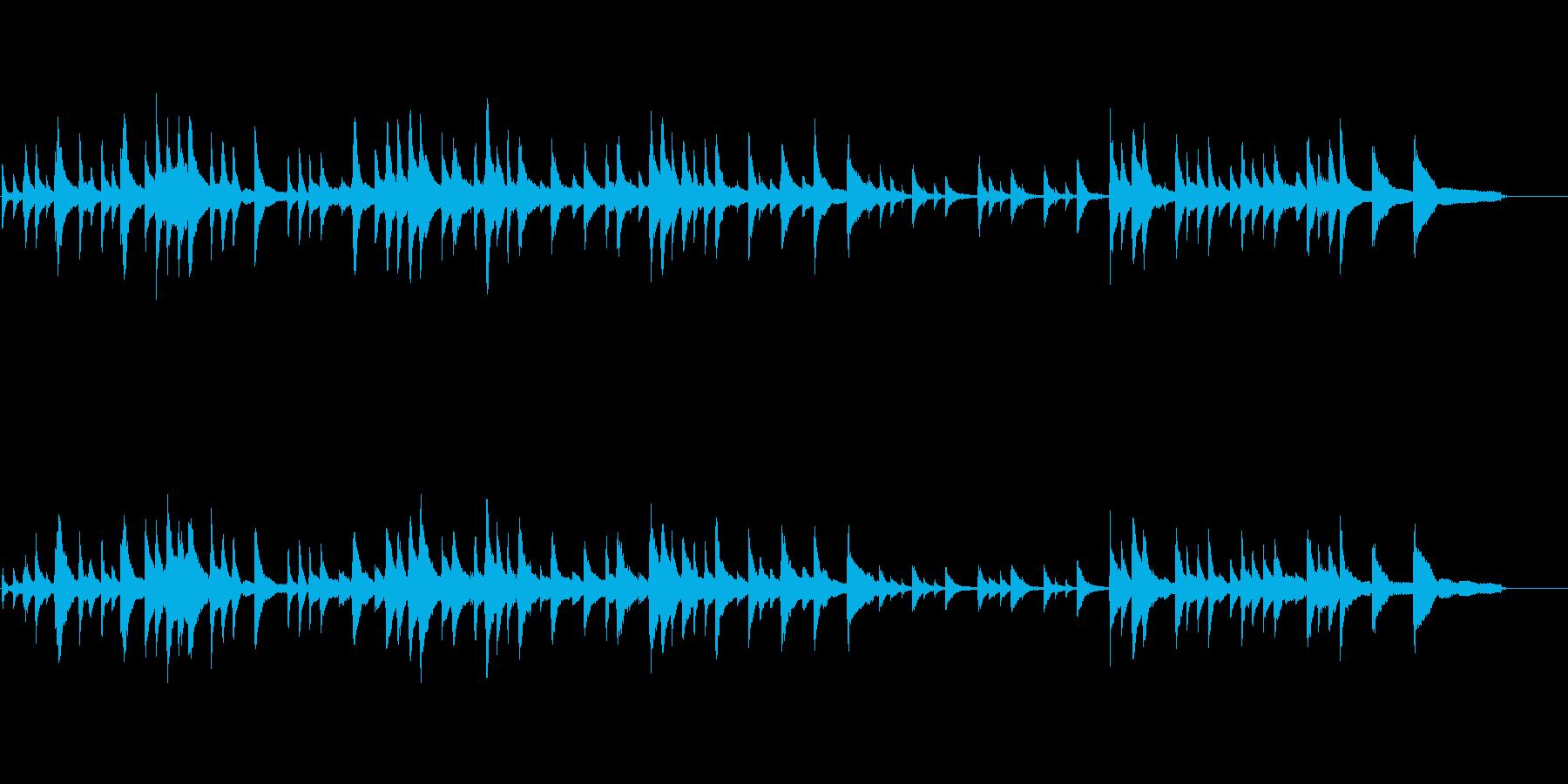 落ち着いたピアノトリオの再生済みの波形
