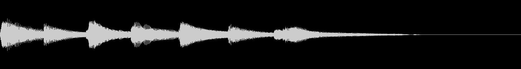 やさしいピアノ・サウンドロゴ7の未再生の波形