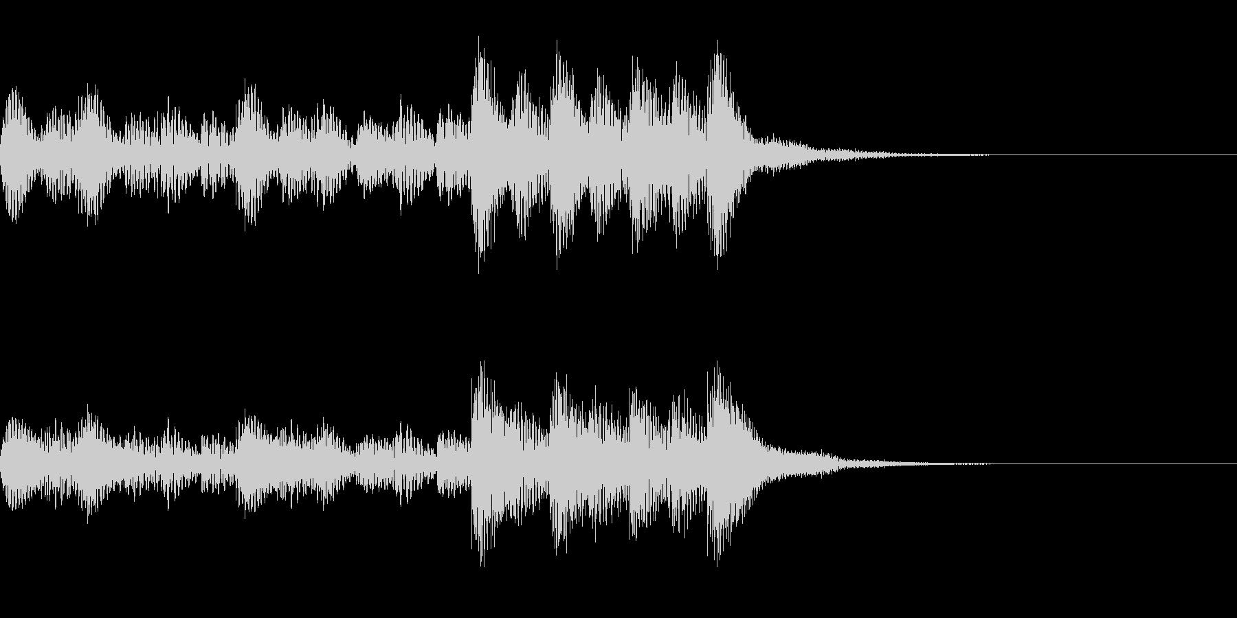 マリンバの力強いジングルの未再生の波形