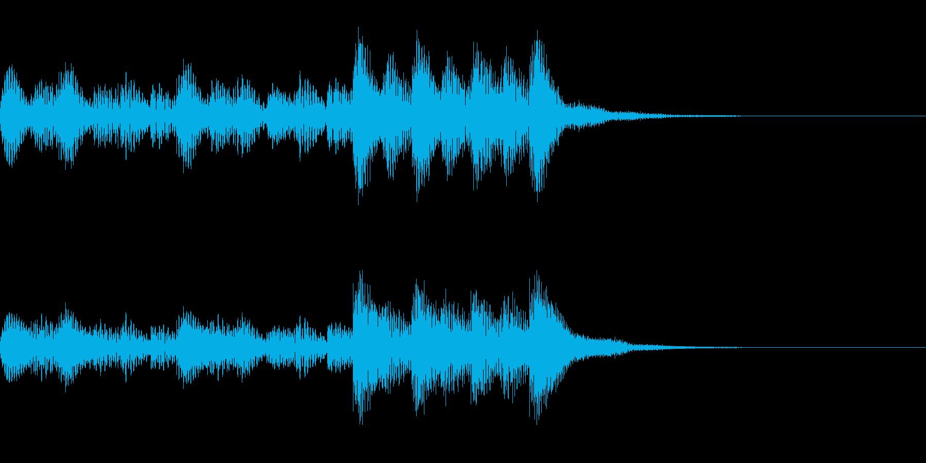 マリンバの力強いジングルの再生済みの波形