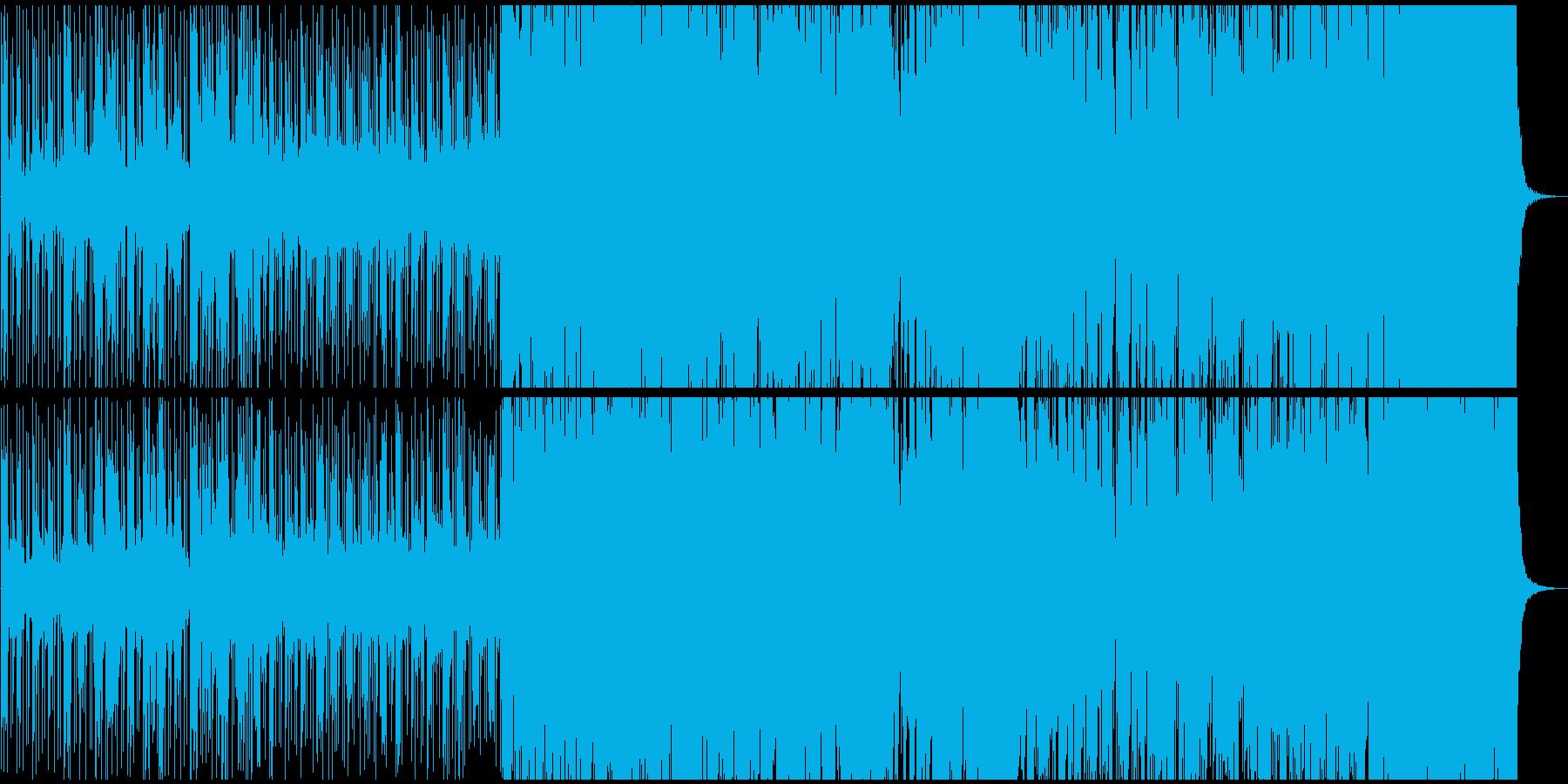 ミステリアス現代音楽の再生済みの波形