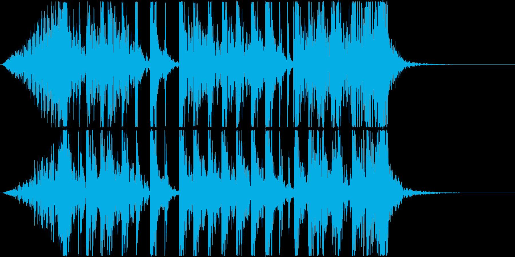 オープニングに最適な躍動感あるジングル2の再生済みの波形