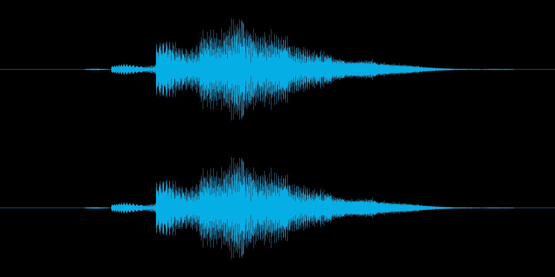 特撮 スイープを確認03の再生済みの波形