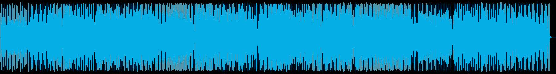アップテンポで疾走感あるハウスの曲の再生済みの波形