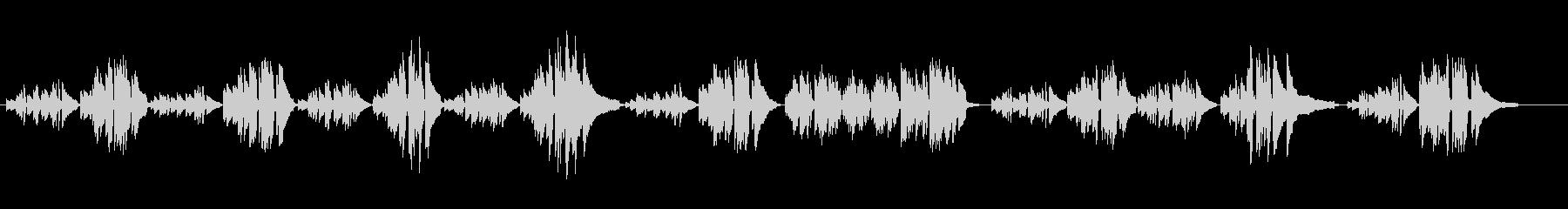 シューマン「シチリアのおどり」ピアノソロの未再生の波形