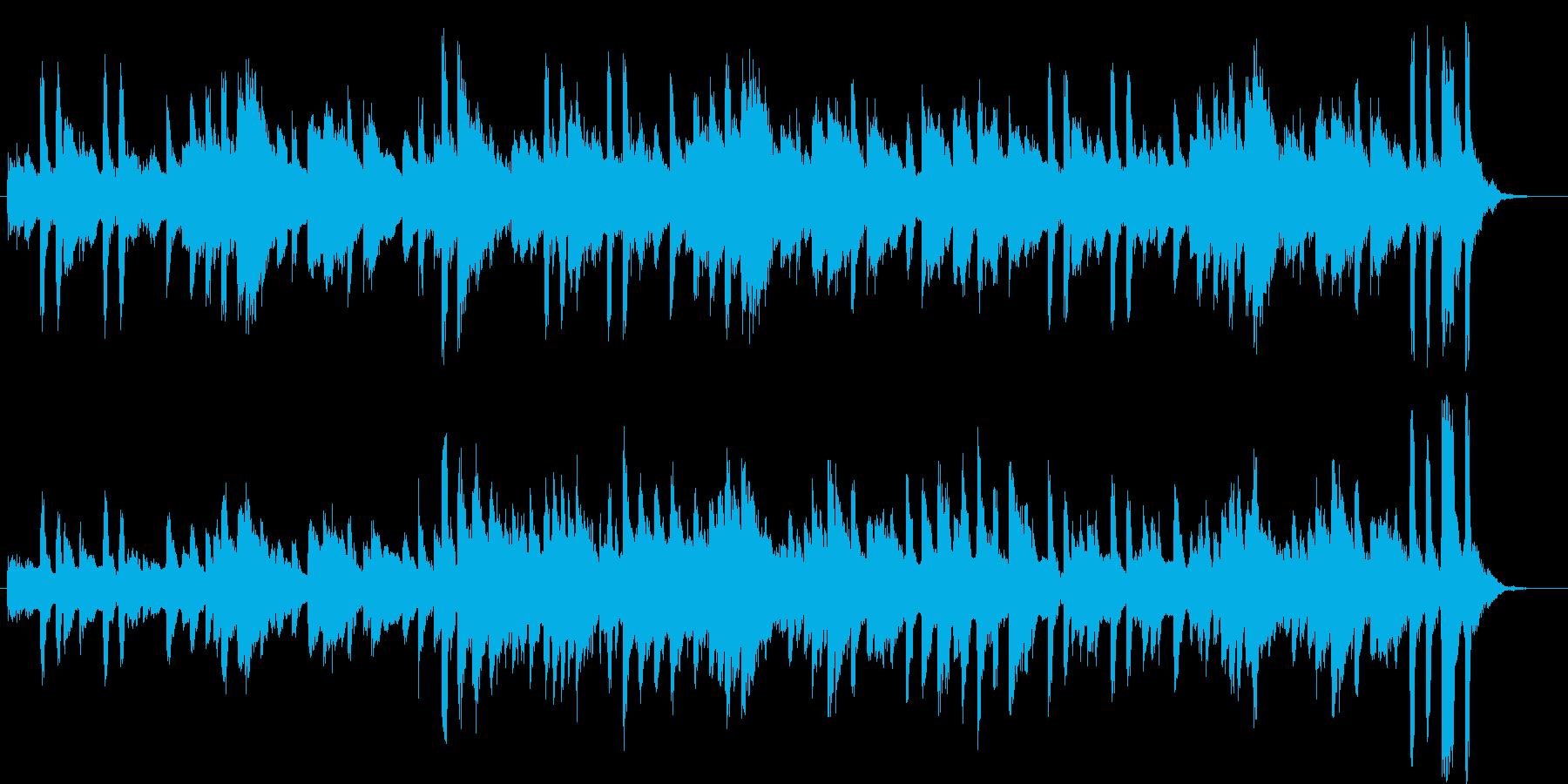 ギターとピアノのねこふんじゃったアレンジの再生済みの波形