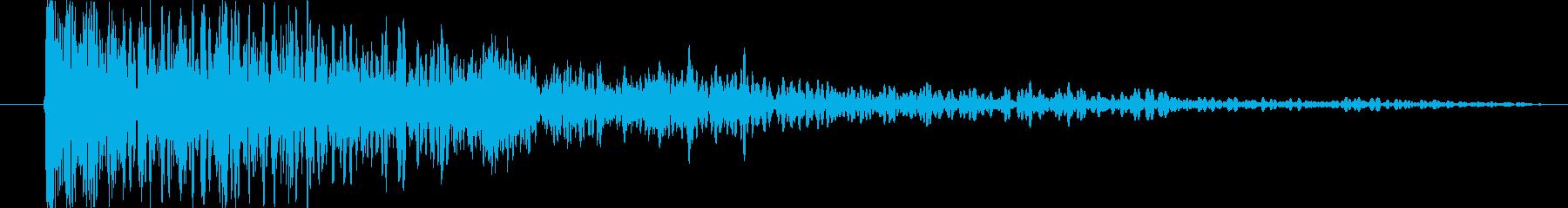 爆発する クローズ02の再生済みの波形