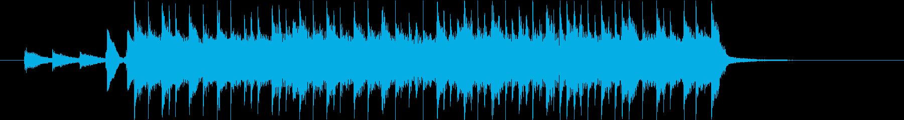 アップテンポなハッピーバースデージングルの再生済みの波形
