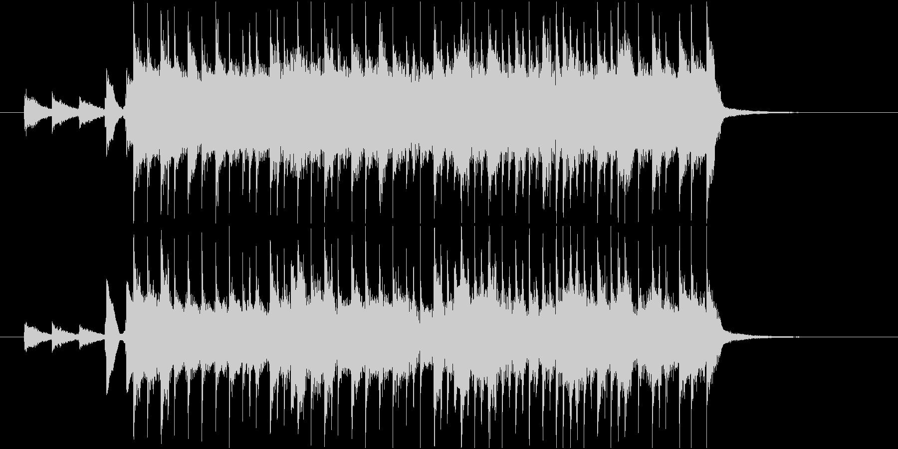 アップテンポなハッピーバースデージングルの未再生の波形