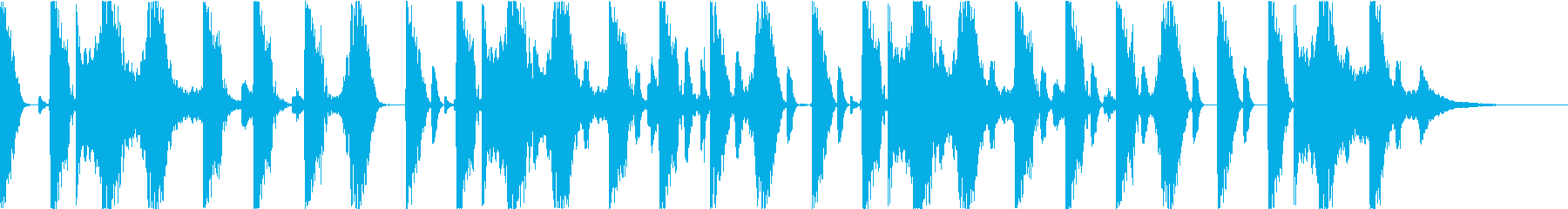 リラックスとしたBGMの再生済みの波形