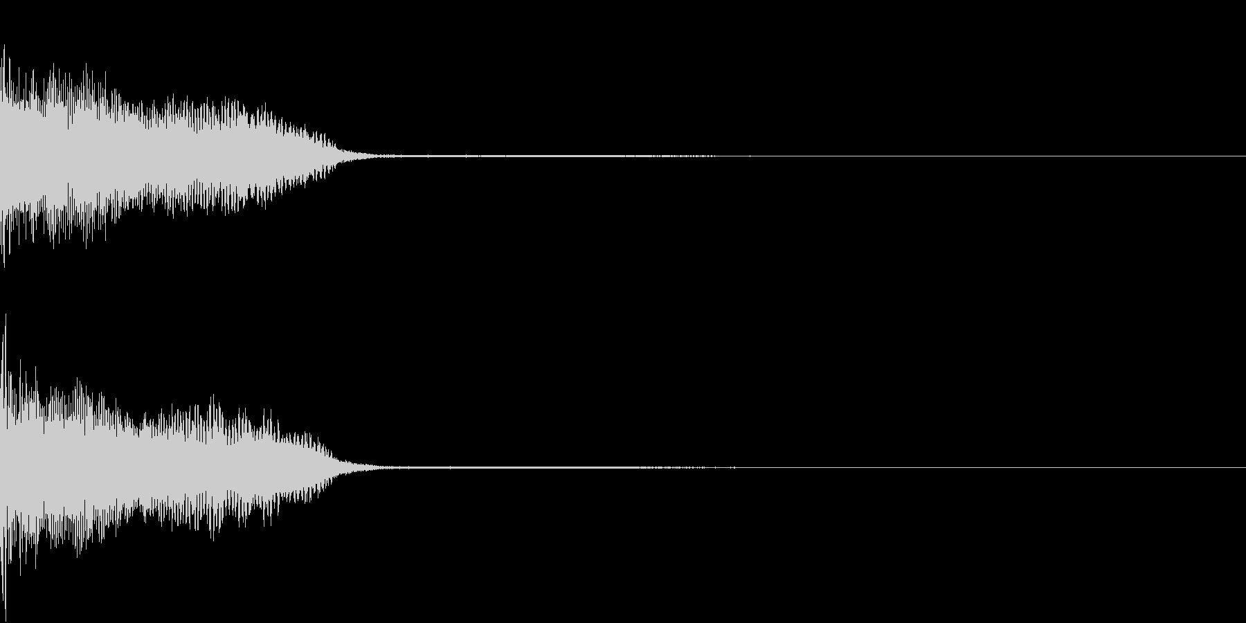 InvaderBuzz 発砲音 33の未再生の波形