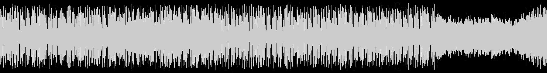 【ループ用】お洒落で怪しいゲームBGMの未再生の波形