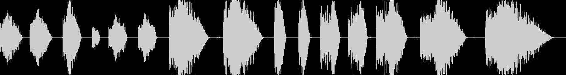 レーザーショット電気アーケードの未再生の波形