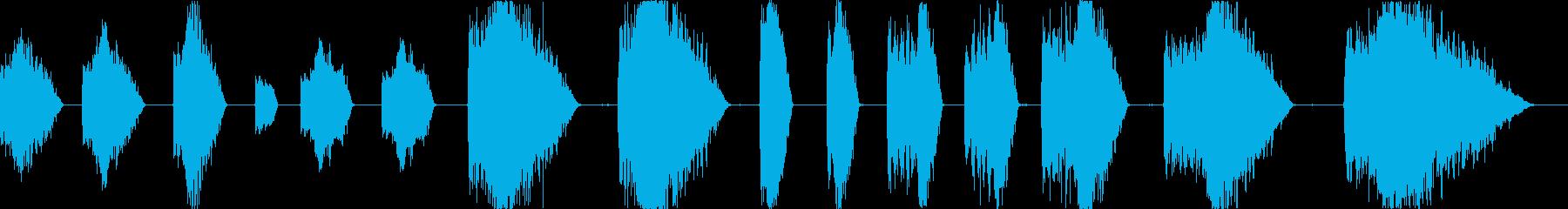 レーザーショット電気アーケードの再生済みの波形