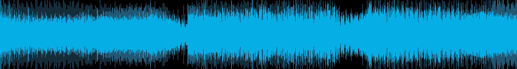 身体を揺さぶられるようなテクノポップの再生済みの波形