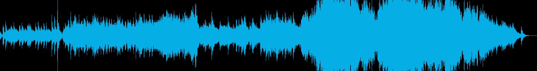 水中イメージの幻想的で温かいオーケストラの再生済みの波形