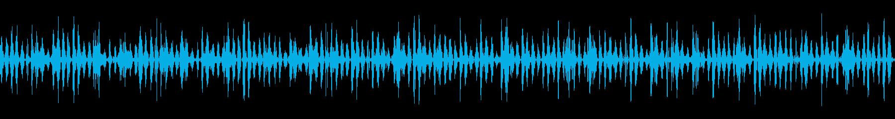 ロボットの足跡の再生済みの波形