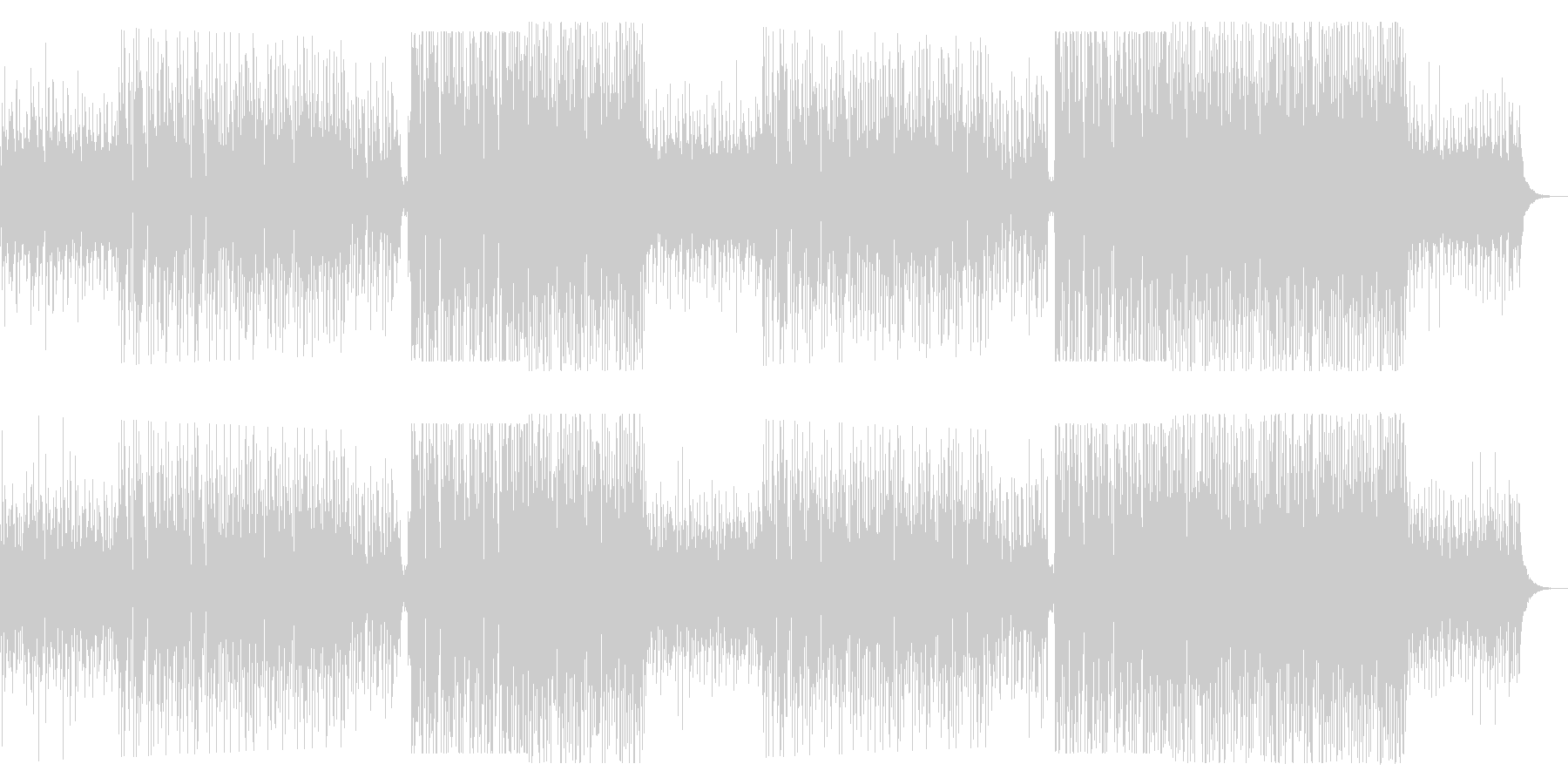 洋楽っぽい女性ボーカルのトロピカルハウスの未再生の波形