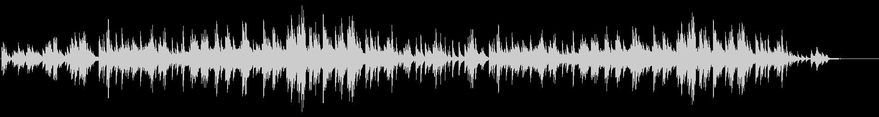 動画や店内BGMに使いやすい、ピアノソロの未再生の波形