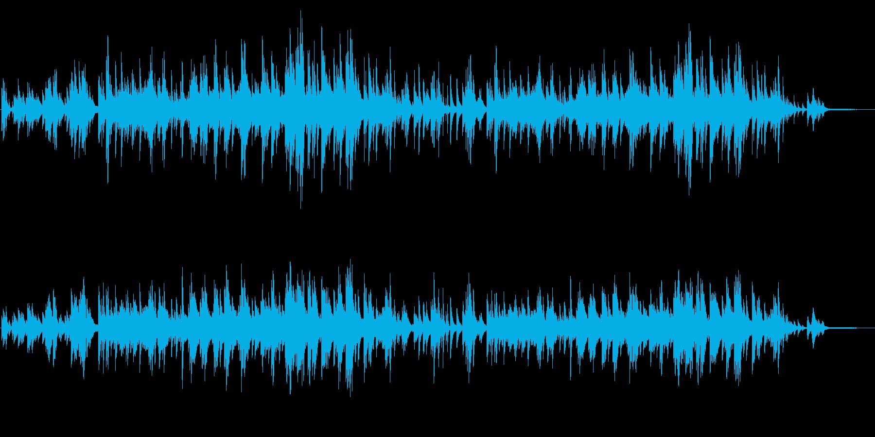 動画や店内BGMに使いやすい、ピアノソロの再生済みの波形