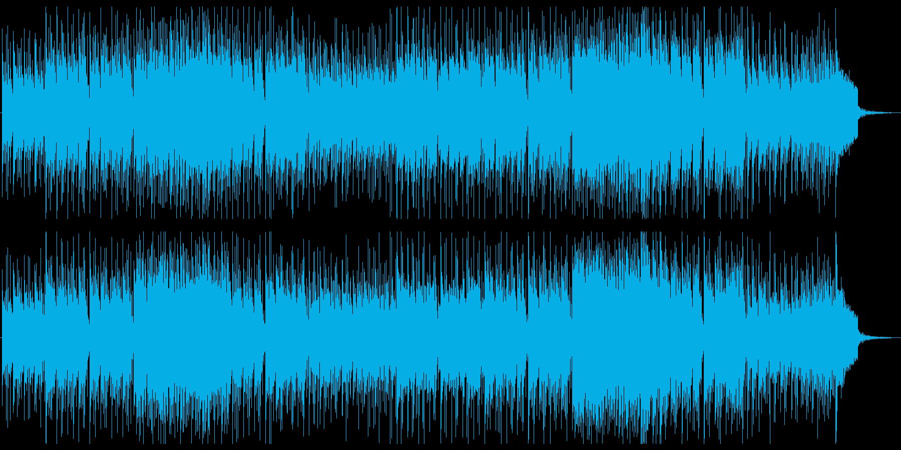 楽しい中華風楽曲の再生済みの波形