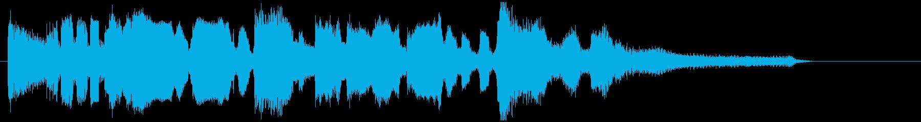 艶やかなサックスバラードの15秒ジングルの再生済みの波形