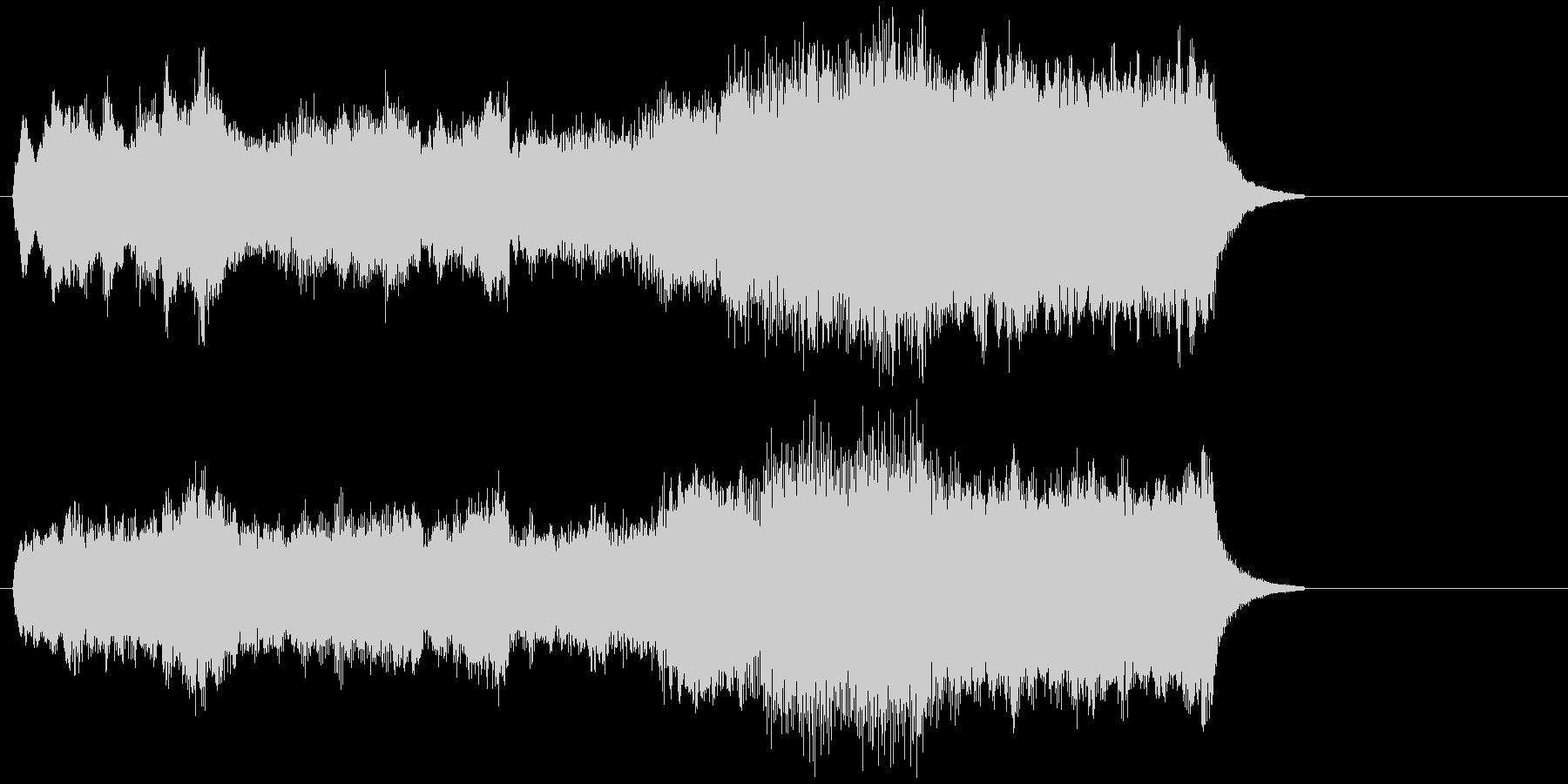 エレクトーンによる荘厳なショートバラードの未再生の波形