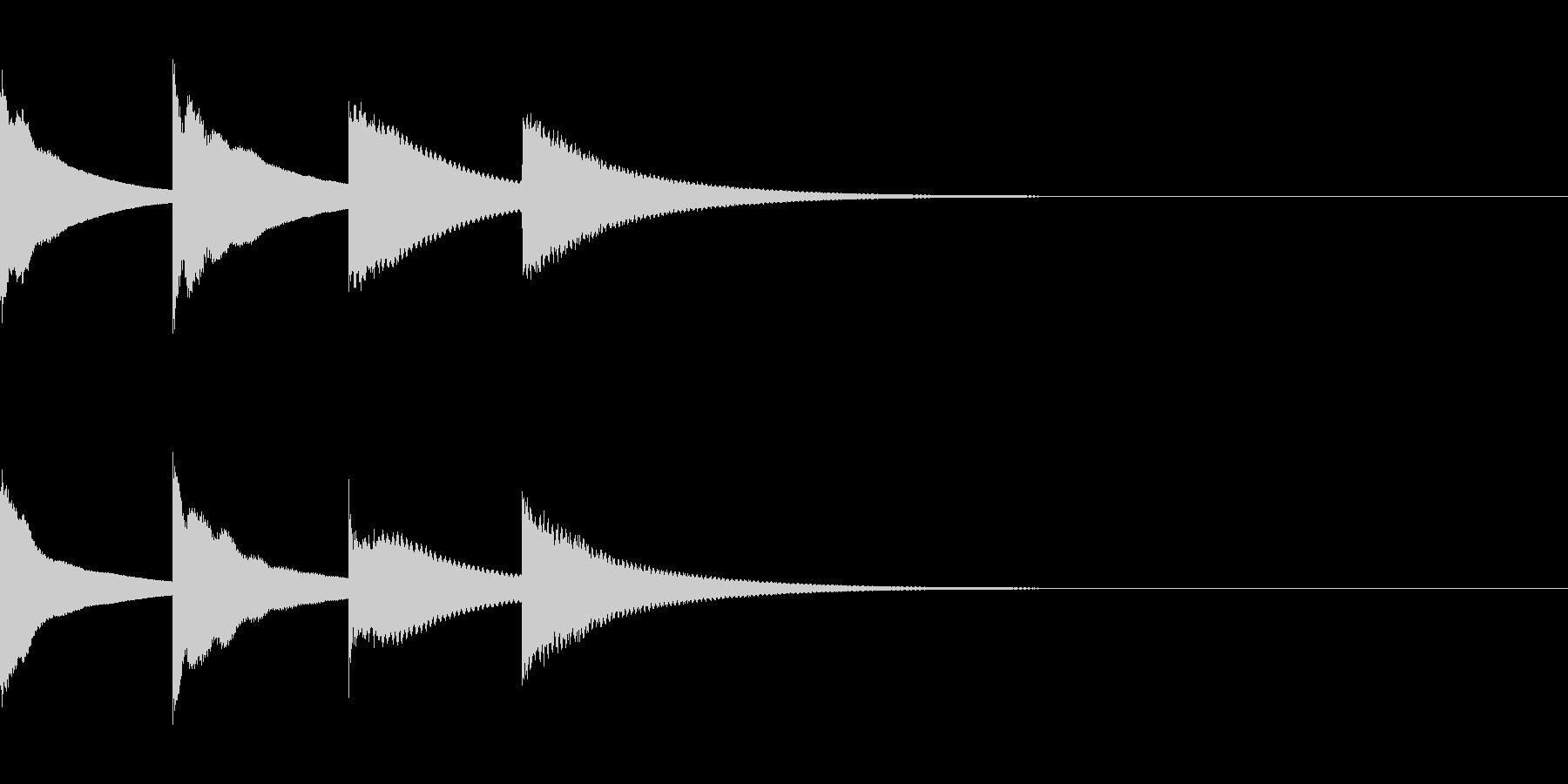 ピンポンパンポン(アナウンス・下行)の未再生の波形