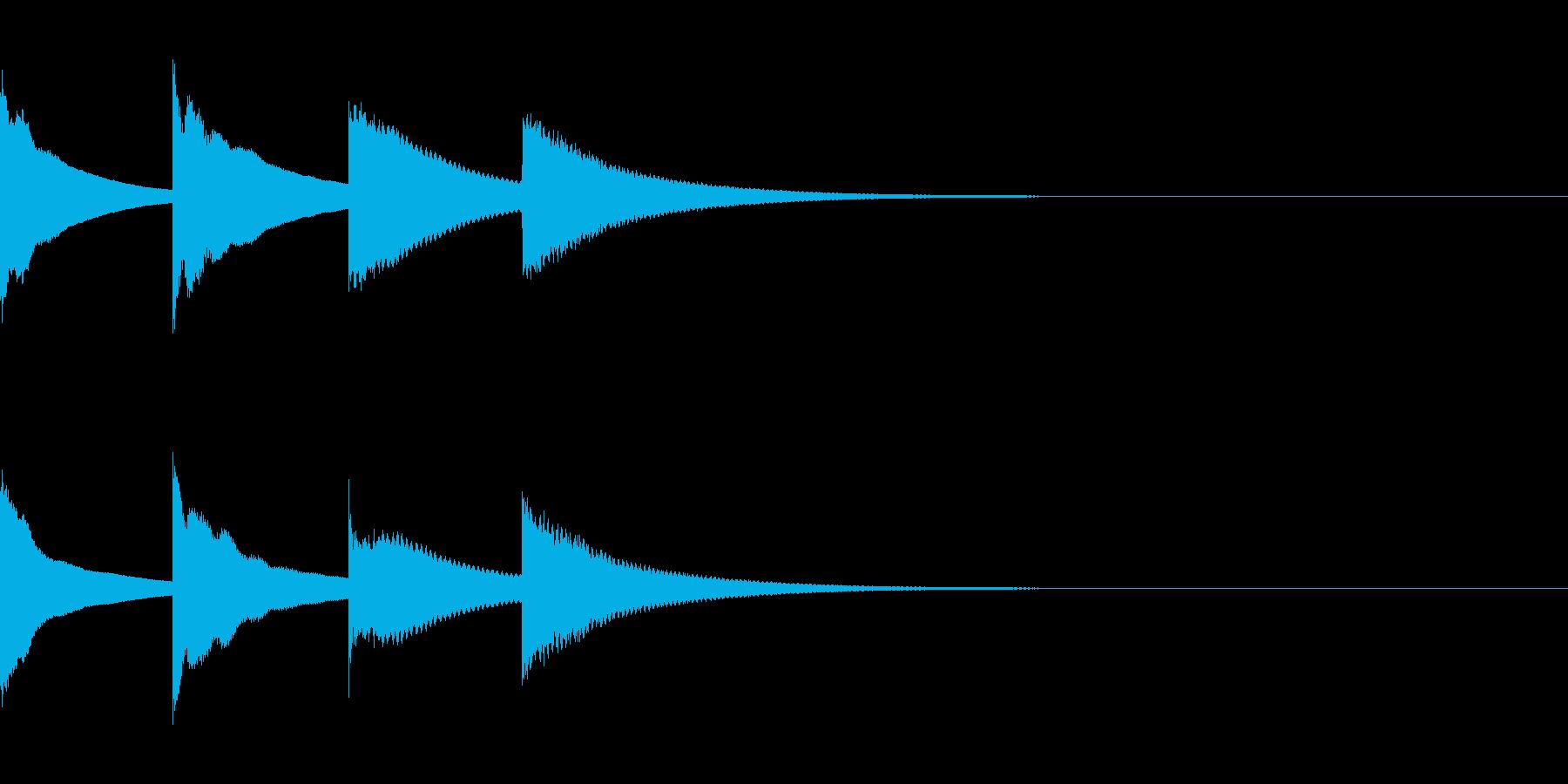 ピンポンパンポン(アナウンス・下行)の再生済みの波形