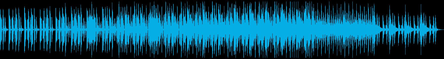 近未来的なシンセとアコギを融合させた楽曲の再生済みの波形
