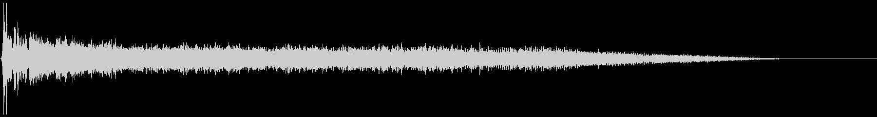 ハードディスク 停止音(ウィィィン)の未再生の波形