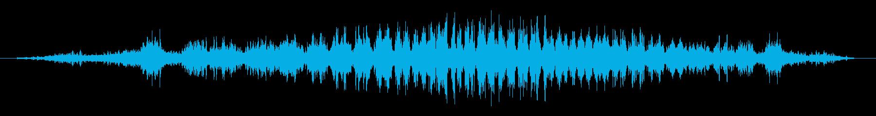シュワーッ(疾走感のある効果音)の再生済みの波形