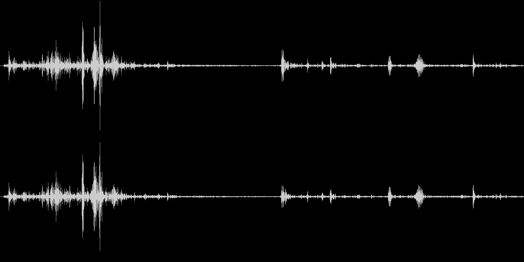 Fish 魚がピチャッと跳ねる音 3の未再生の波形