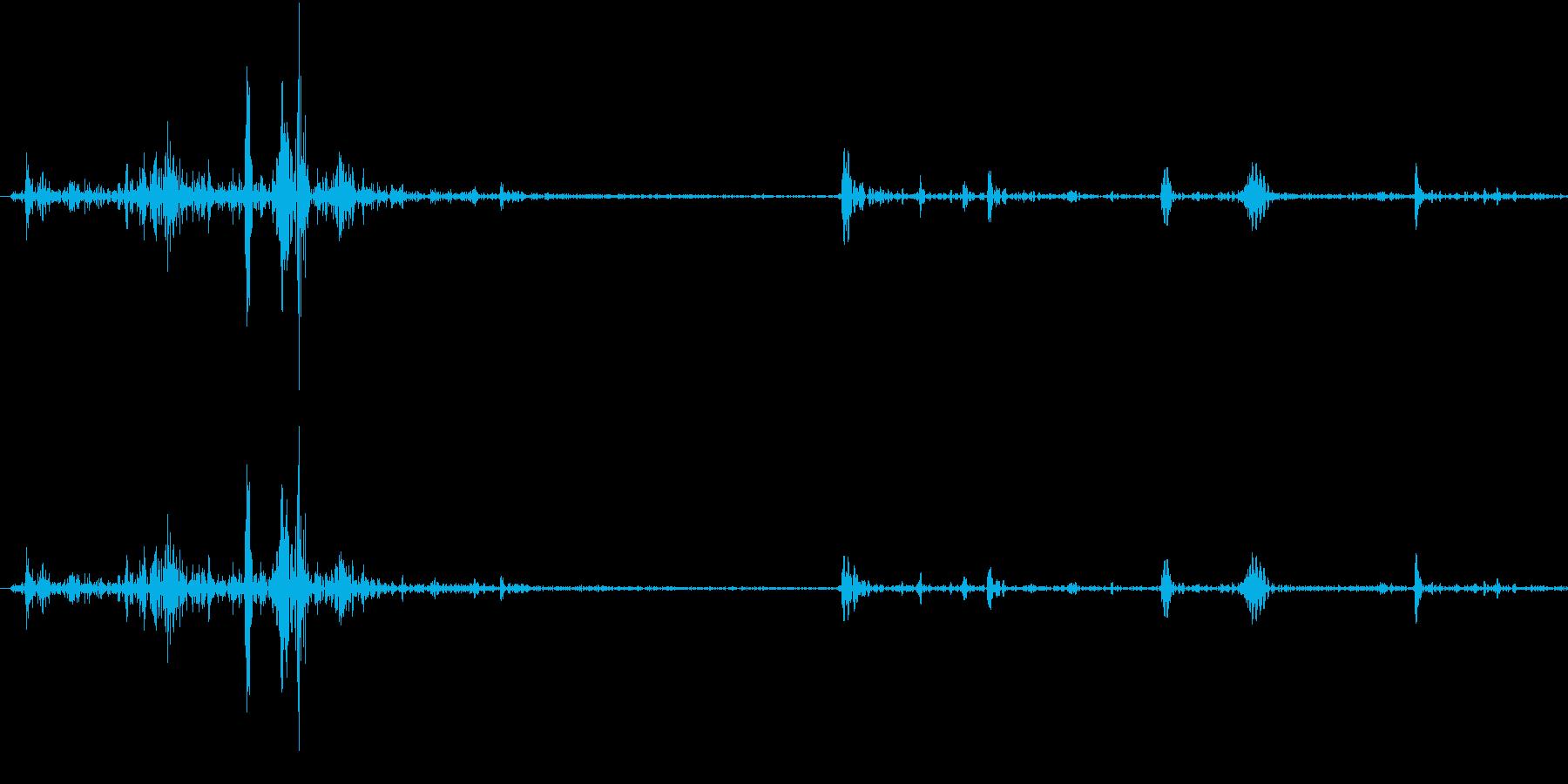 Fish 魚がピチャッと跳ねる音 3の再生済みの波形