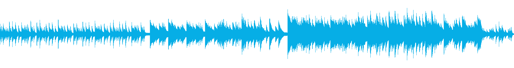 ループ 和を感じる切ないピアノソロの再生済みの波形