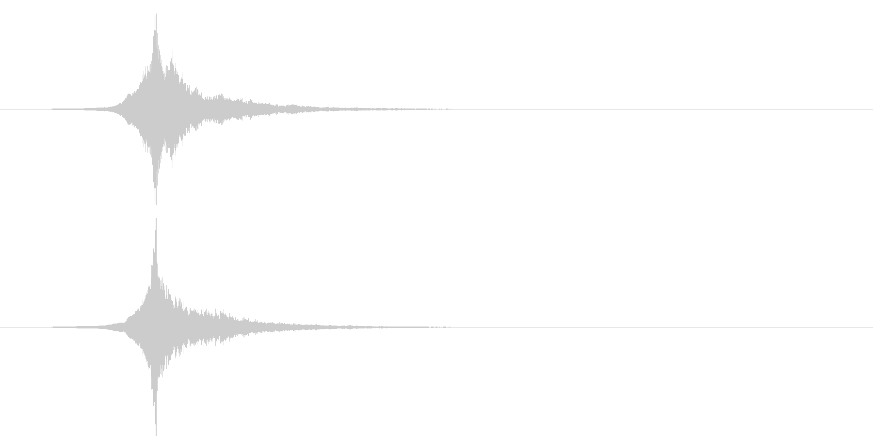 開始音(金属、かっこいい、クール)の未再生の波形