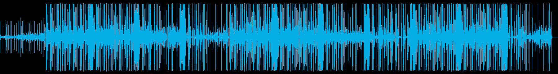 ダークで怪しいヒップホップ・トラップの再生済みの波形